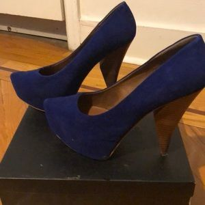 Matiko leather heels. Worn once. Size 10